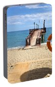 Marbella Beach In Spain Portable Battery Charger