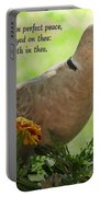 Marigold Dove With Verse Portable Battery Charger