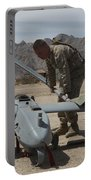 Marines Move An Rq-7 Shadow Unmanned Portable Battery Charger