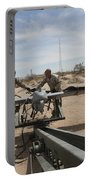 Marines Place An Rq-7 Shadow Unmanned Portable Battery Charger