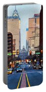 Market Street In The Morning Portable Battery Charger