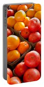 Market Tomatoes Portable Battery Charger by Lauri Novak