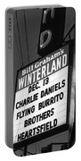 Marquee At Winterland In Late 1975 Portable Battery Charger
