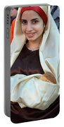 Mary And Baby Jesus At The Christmas March In Bethlehem Portable Battery Charger