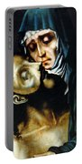 Mary And Jesus Painting At Peace Center Portable Battery Charger