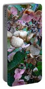 Mauve Hydrangea In Fall  Portable Battery Charger