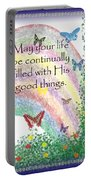 May Your Life Be Filled Portable Battery Charger by Christopher Gaston