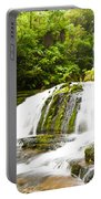 Mclean Falls In The Catlins Of South New Zealand Portable Battery Charger