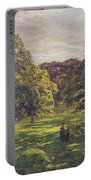 Meadow Scene  Portable Battery Charger by John William Buxton Knight