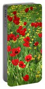 Meadow With Tulips Portable Battery Charger
