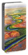 Meandering River In Northern Australian Channel Country Portable Battery Charger