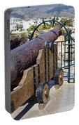 Medieval Cannon At The Balcon De Europa Portable Battery Charger