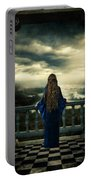 Medieval Lady Watching The Sea Portable Battery Charger