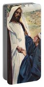 Meeting Of Jesus And Martha Portable Battery Charger