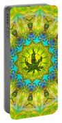 Mellow Yellow Mandala Portable Battery Charger