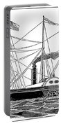Merchant Steamship, 1838 Portable Battery Charger