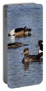 Mergansers After The Rain Portable Battery Charger