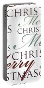 Merry Christmas Words Portable Battery Charger