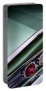 Metalic Green Impala Wing Vingage 1960 Portable Battery Charger by Douglas Pittman