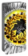 Metalised Gazania Flower Portable Battery Charger