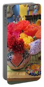 Mexican Paper Flowers And Talavera Pottery Portable Battery Charger