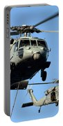 Mh-60s Sea Hawk Helicopters In Flight Portable Battery Charger