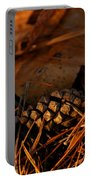Michigan Golden Sunset Pine Cone Portable Battery Charger