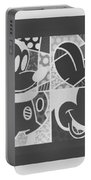 Mickey In Negative Black And White Portable Battery Charger