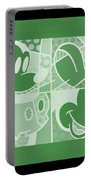 Mickey In Negative Olive Green Portable Battery Charger