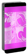Mickey In Negative Pink Portable Battery Charger