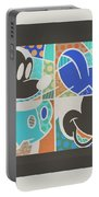 Mickey In Negative Portable Battery Charger
