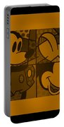Mickey In Orange Portable Battery Charger