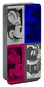 Mickey In Quad Colors Portable Battery Charger