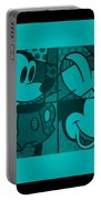 Mickey In Turquois Portable Battery Charger
