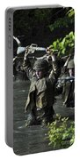 Midshipmen Cross A Creek During Sea Portable Battery Charger