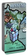 Minnesota Cartoon Map Portable Battery Charger