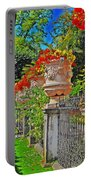 Mirabell Gardens In Salzburg Hdr Portable Battery Charger by Mary Machare