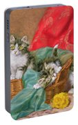 Mischievous Kittens Portable Battery Charger