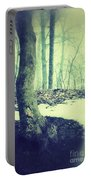 Misty Winter Woods Portable Battery Charger