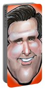 Mitt Romney Caricature Portable Battery Charger