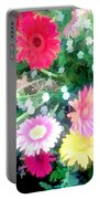 Mixed Asters Portable Battery Charger