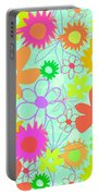 Mixed Flowers Portable Battery Charger by Louisa Knight
