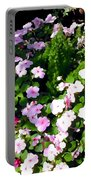 Mixed Impatiens In Dappled Shade Portable Battery Charger