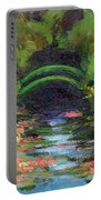 Momet's Water Lily Garden Toward Evening Portable Battery Charger