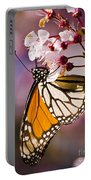 Monarch On A Flower Portable Battery Charger