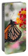 Monarch On Butterfly Weed Portable Battery Charger