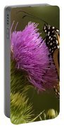 Monarch Thistle Munching Portable Battery Charger