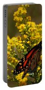 Monarchs On Yellow Portable Battery Charger