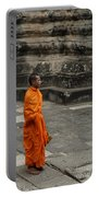 Monk At Ankor Wat Portable Battery Charger