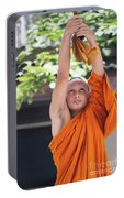 Monk In The Bell Tower #2 Portable Battery Charger